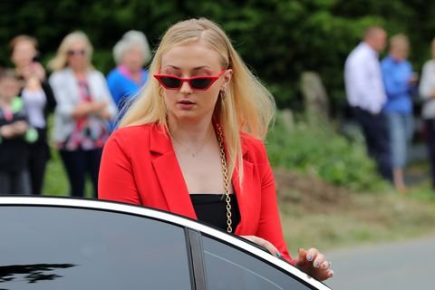 Sophie Turner looks totally badass by the way