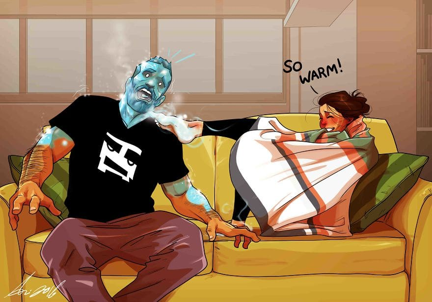 Artist Illustrates Everyday Life With His Wife And It's Really Adorable
